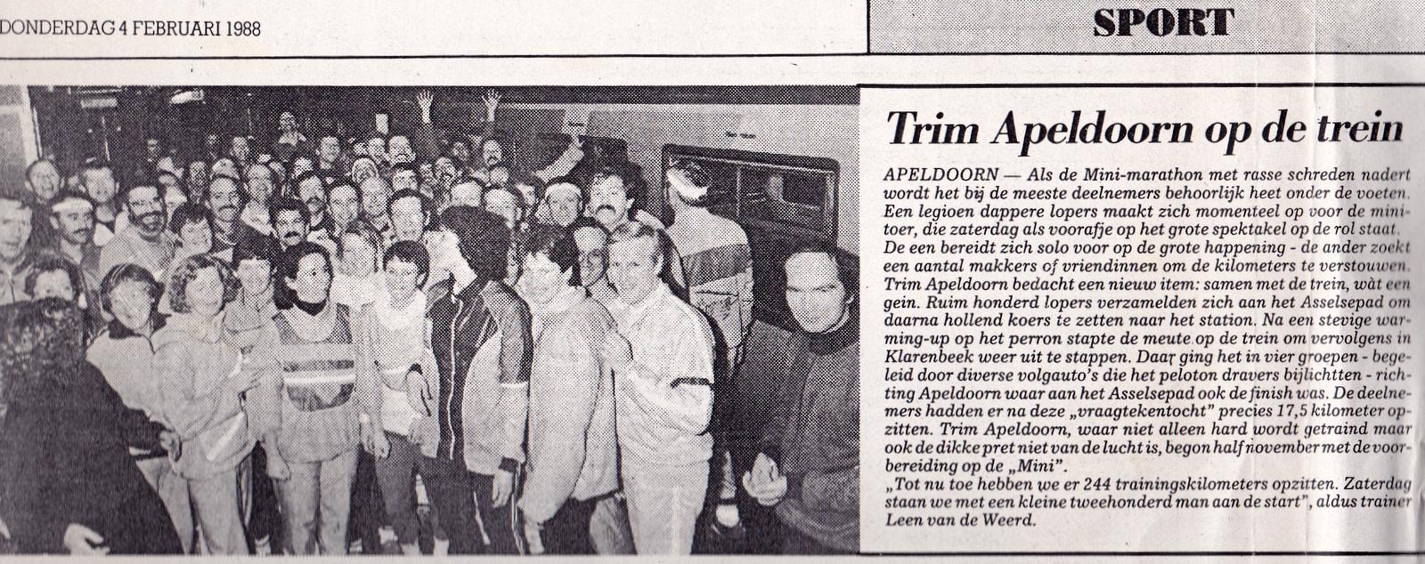 Vraagtekentocht met de trein in 1988