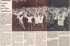Krantenartikel 25-jarig jubileum TA 1991