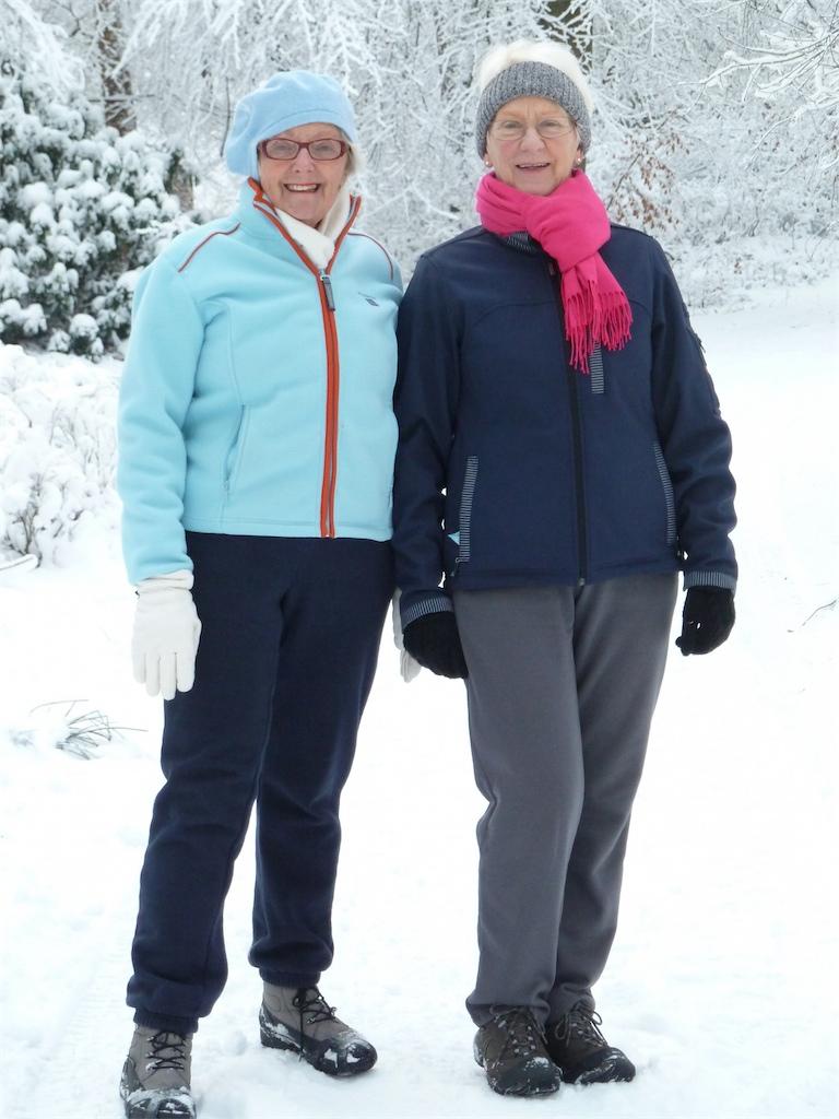 Wandeltrimmen in de sneeuw op dinsdagmorgen