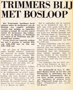 Enquete onder de Trimmers in 1970